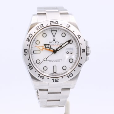 Men's Stainless Steel Explorer II Watch. 216570