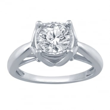 1.00ct White Gold Diamond Ring SKR20232