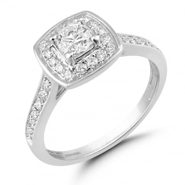 0.60ct White Gold Diamond Ring SKR15639