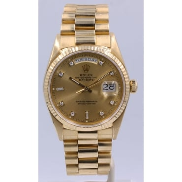 Men's 18ct Yellow Gold Day-Date.