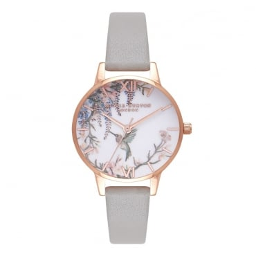 PAINTERLY PRINTS GREY & ROSE GOLD - OB16PP22
