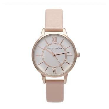 WONDERLAND DUSTY PINK AND ROSE GOLD WATCH - OB15WD28