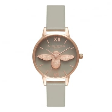 MIDI 3D BEE GREY DIAL & ROSE GOLD WATCH - OB15AM77