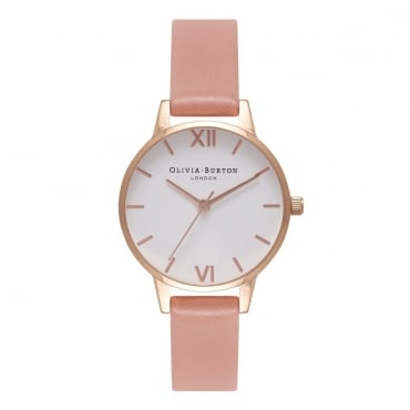 WHITE DIAL ROSE & ROSE GOLD WATCH - OB16MDW03