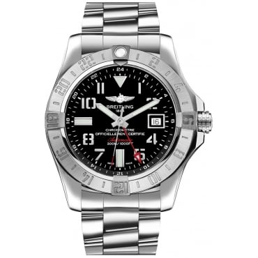 Men's Stainless Steel Avenger II GMT Watch. a3239011/bc34