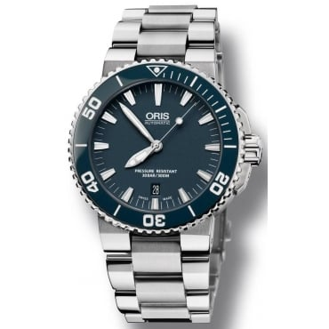 Men's Aquis Date Watch. 01 733 7653 4155-07 8 26 01