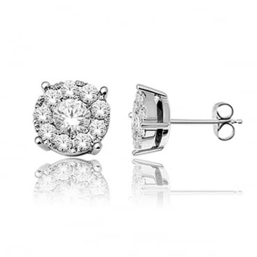 0.25ct White Gold and Diamond Earrings