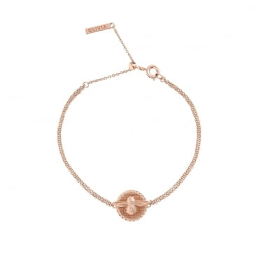 3D Bee Disc Chain Bracelet Rose Gold - OBJ16AMB23