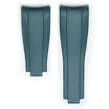 Green Rubber Strap for Rolex Clasp
