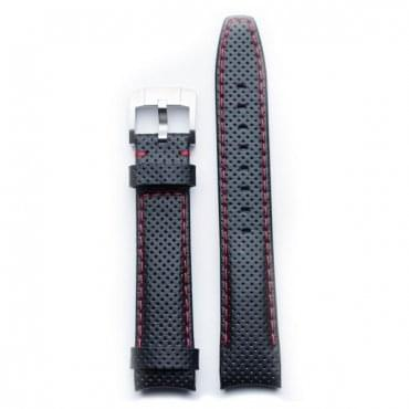 Curved End Racing Leather Strap With Tang Buckle