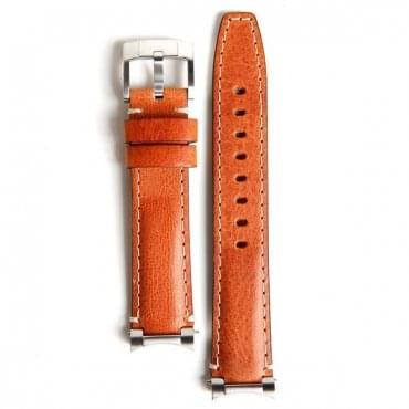 Steel End Leather Strap