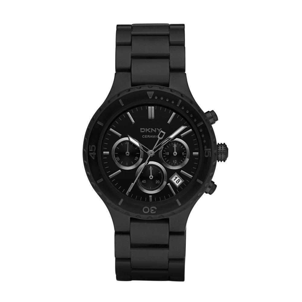 dkny gents black ceramic watch ny8188 market cross jewellers dkny mens black ceramic watch chronograph