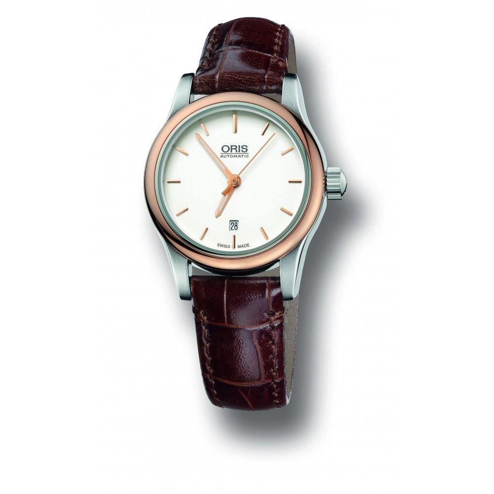 oris mens leather watch 561 7650 43 51 5 14 10 market cross oris mens classic date watch 561 7650 43 51 5 14 10