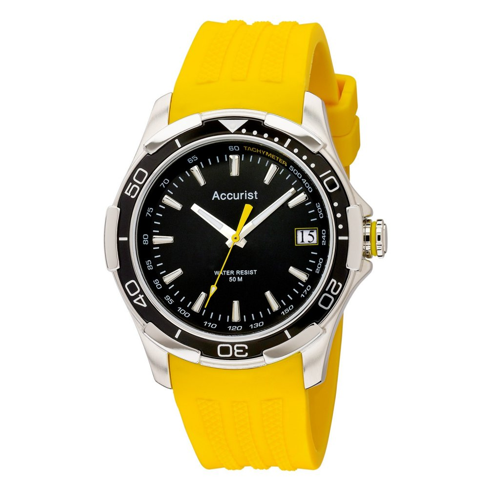mens accurist yellow acctiv sports ms860by
