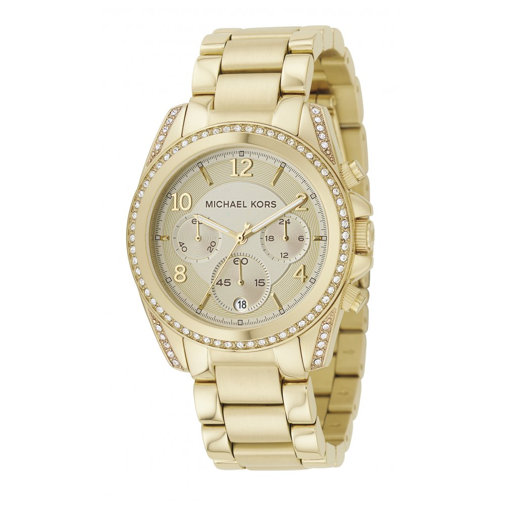 michael kors watches for men women from market cross jewellers michael kors ladies gold blair chronograph watch mk5166