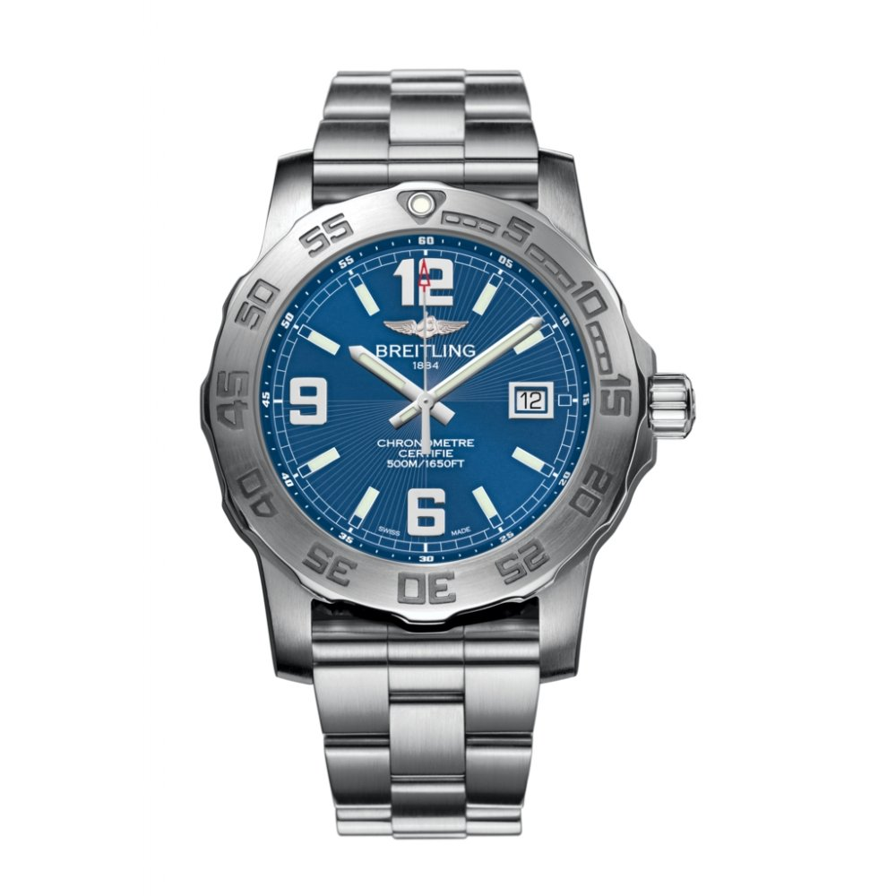 "mens breitling colt 44 a7438710 watch blue dial market cross breitling mens colt 44 superquartzâ""¢ watch a7438710 c849"