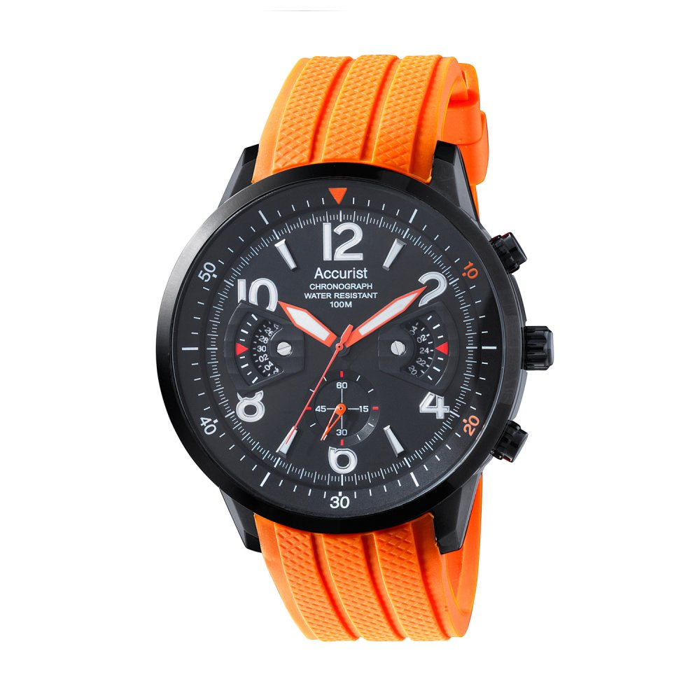 accurist mens orange chronograph sports watch ms921bo market mens chronograph watch ms921bo