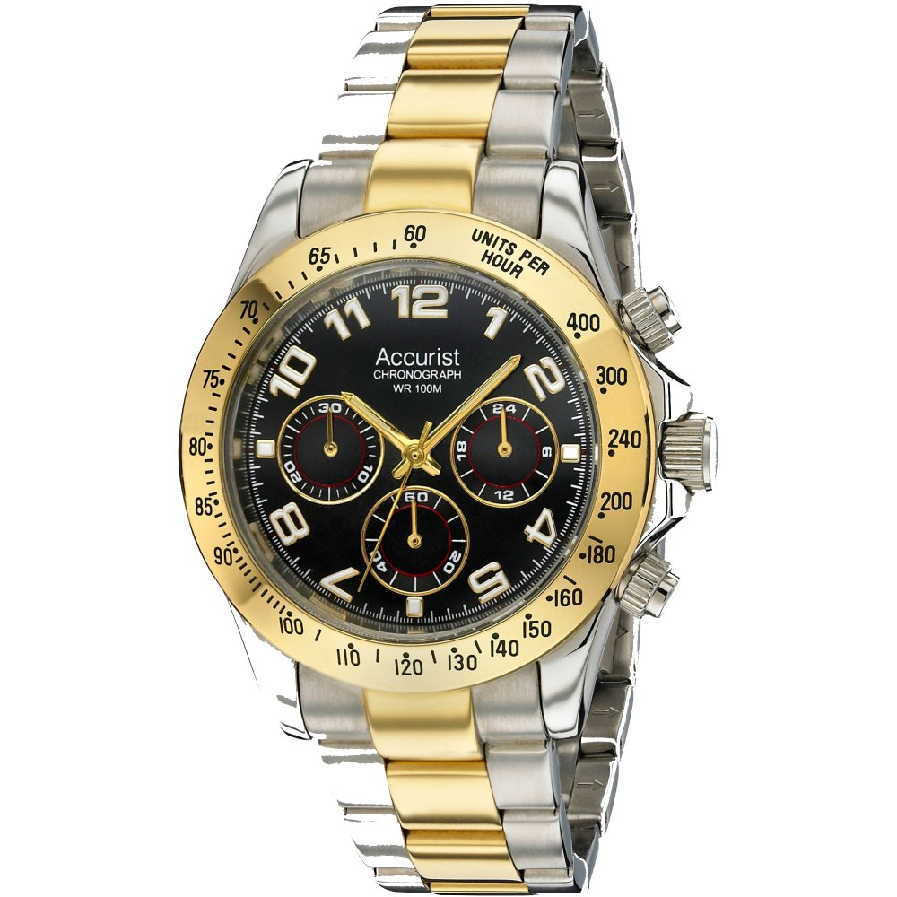 mens accurist two tone stainless steel watch mb981b market mens two tone watch mb981b