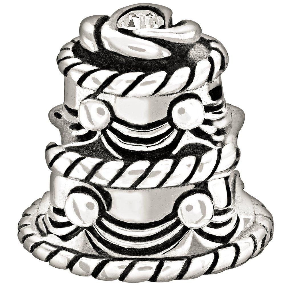 chamilia wedding cake charm 2025 0972 market cross jewellers. Black Bedroom Furniture Sets. Home Design Ideas