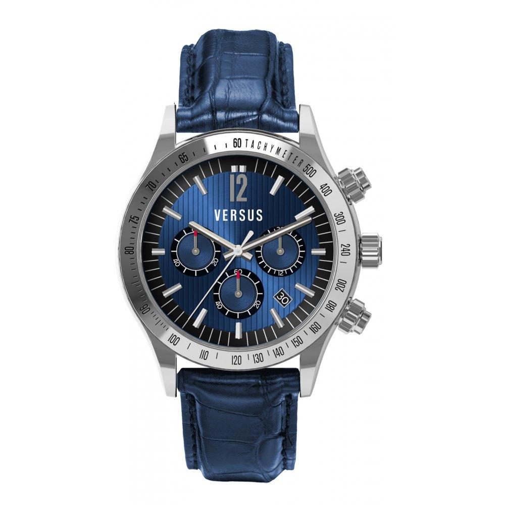 mens versus by versace blue cosmopolitan watch sgc02 0012 market mens cosmopolitan blue leather watch sgc02 0012