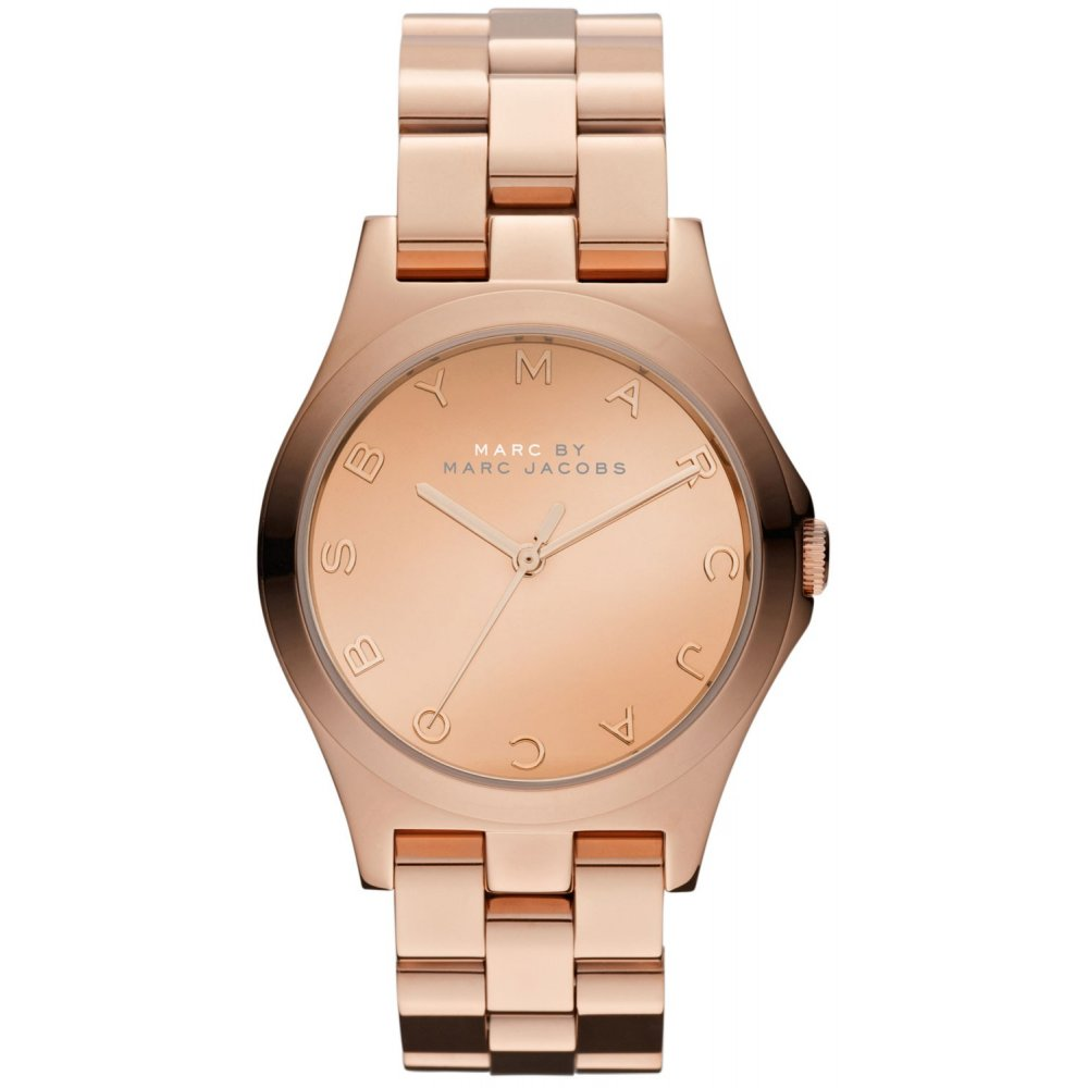 marc by marc jacobs mbm3212 ladies rose gold henry watch market ladies henry rose gold watch mbm3212