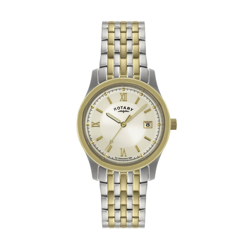 mens rotary two tone watch gb02227 02 mens rotary watches mens two tone watch gb02227 02