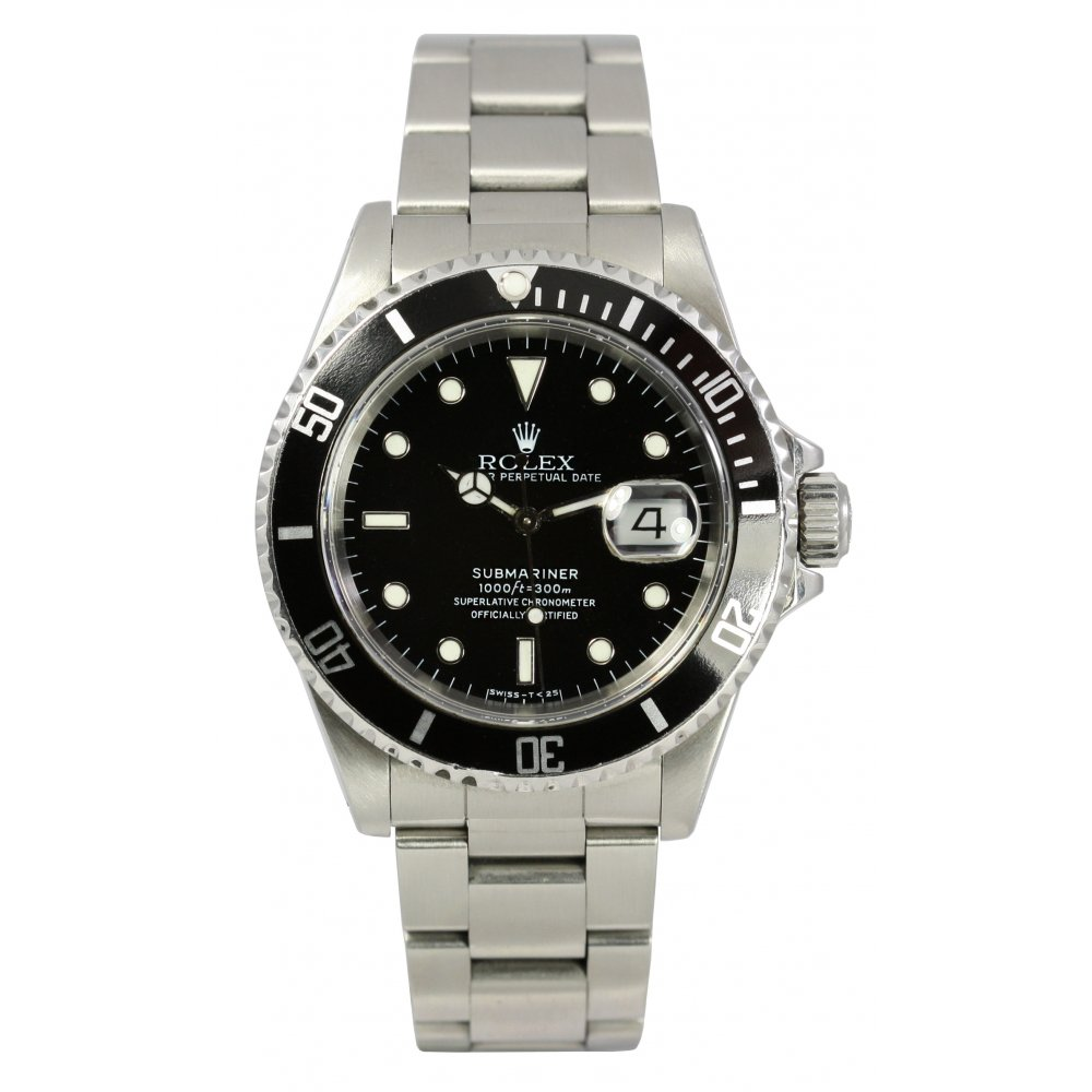 mens pre owned rolex submariner date 16610