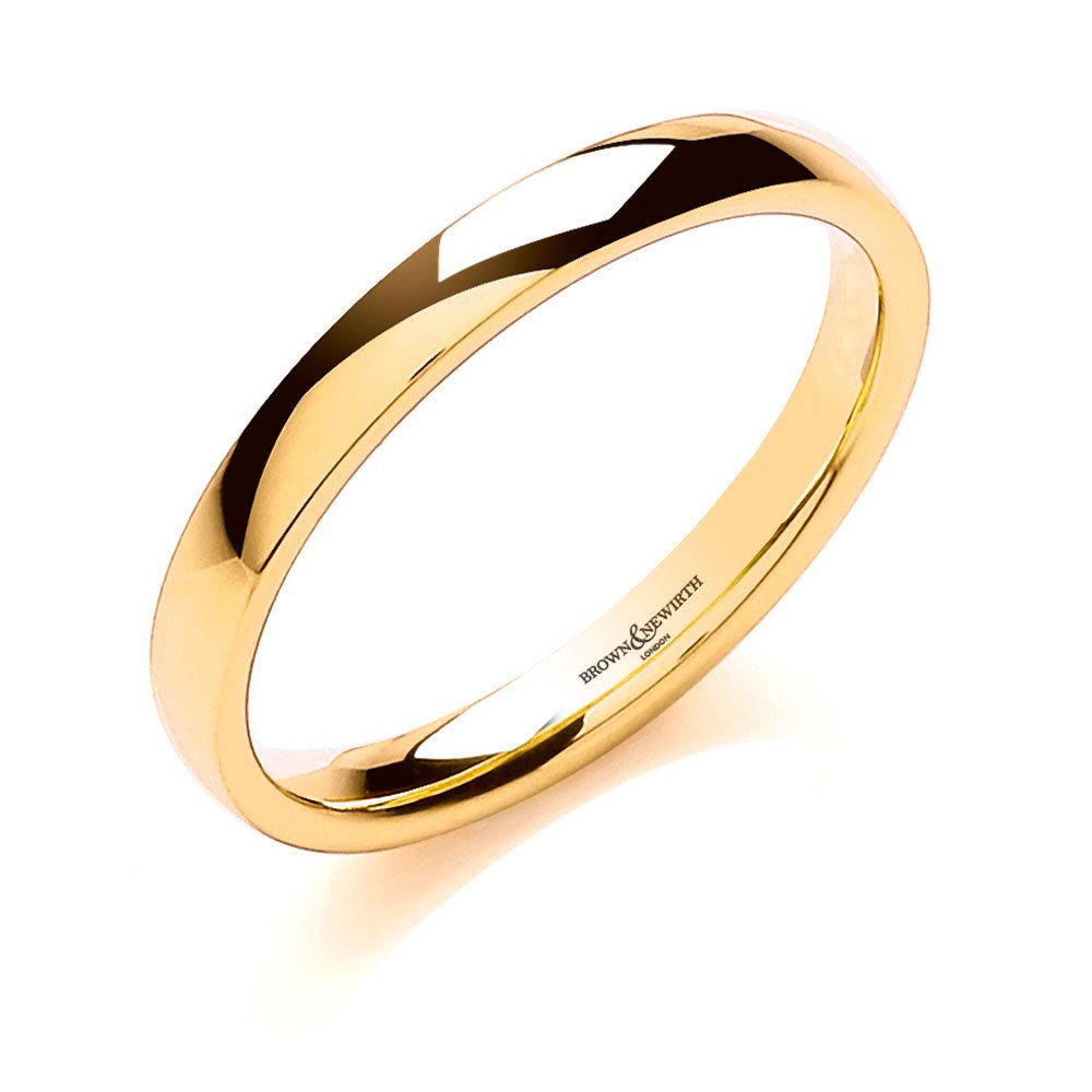 Brown And Newirth 18ct Yellow Gold 2mm Wedding Ring