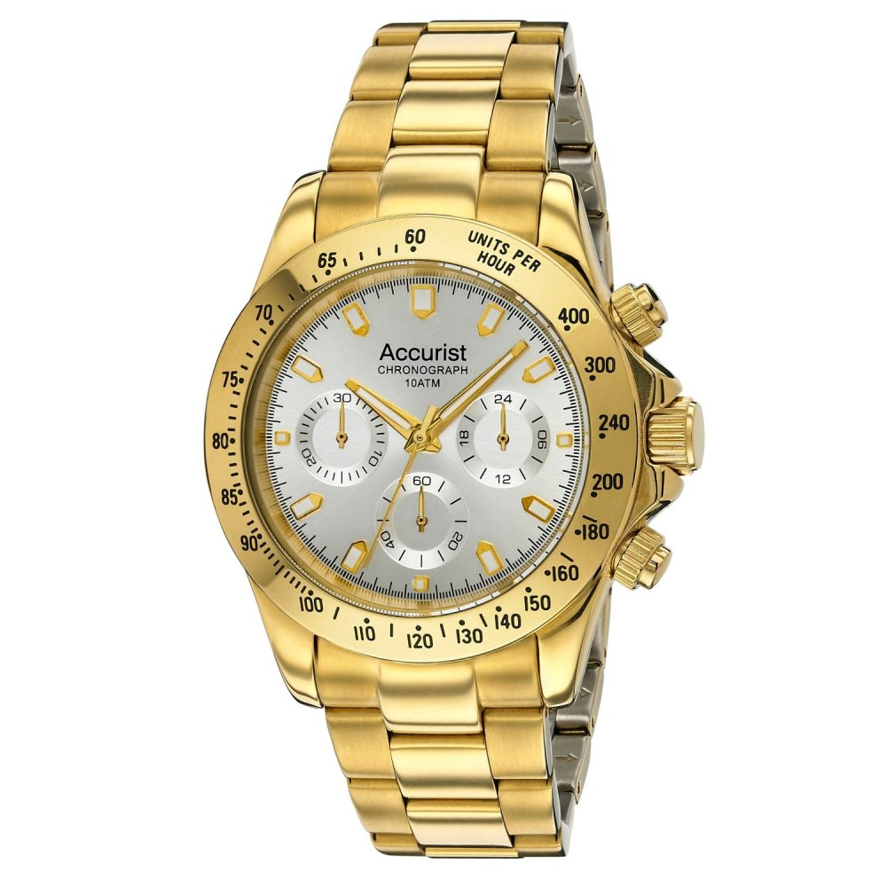 mens accurist gold tone watch mb980s mens gold tone watch mb980s