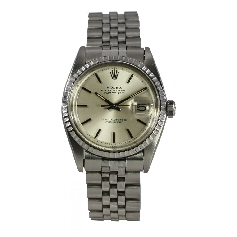 pre owned rolex mens stainless steel datejust 1603