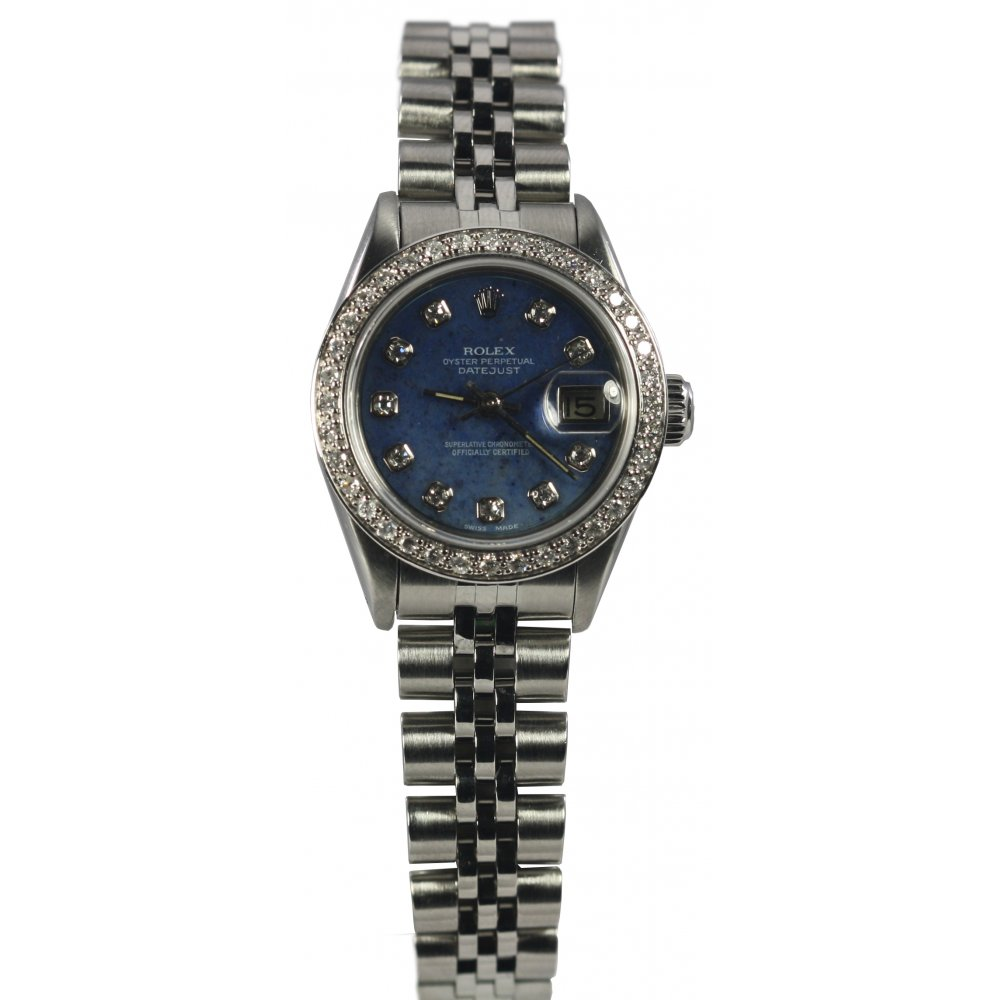 pre owned rolex stainless steel datejust