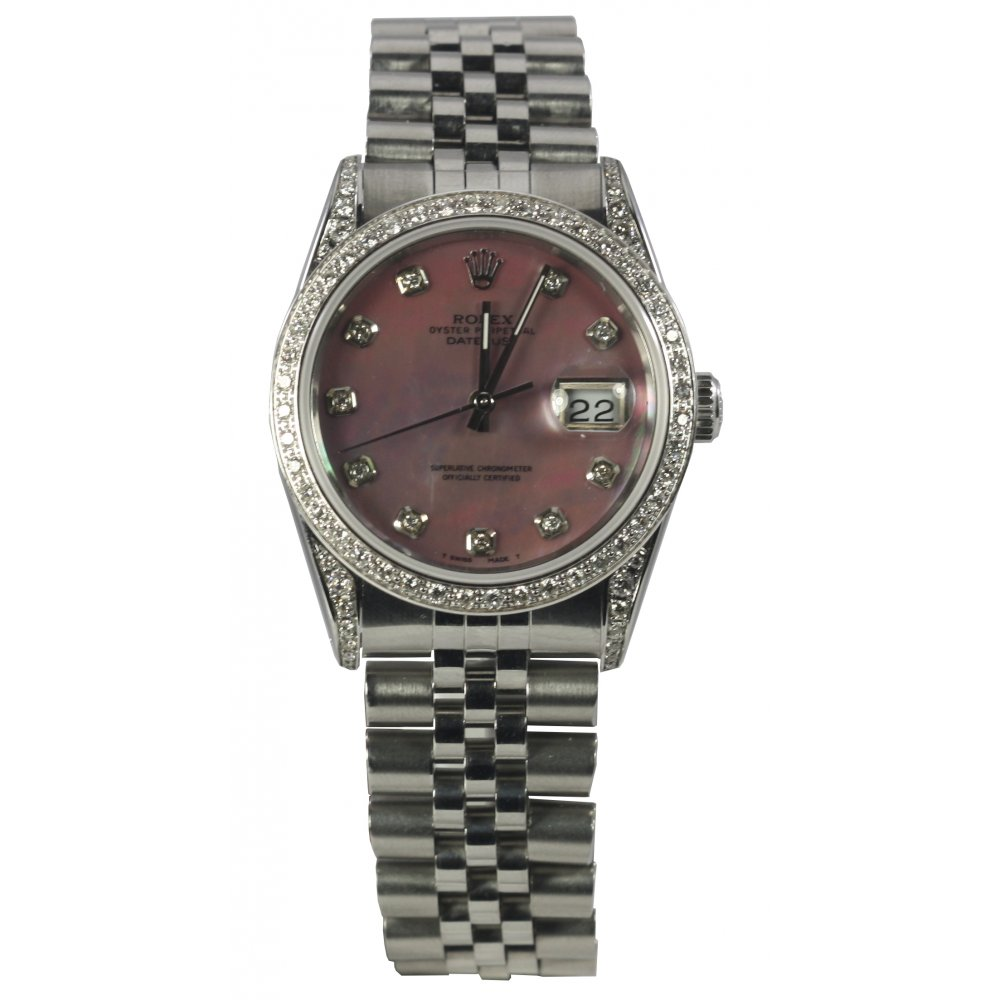pre owned rolex s stainless steel datejust