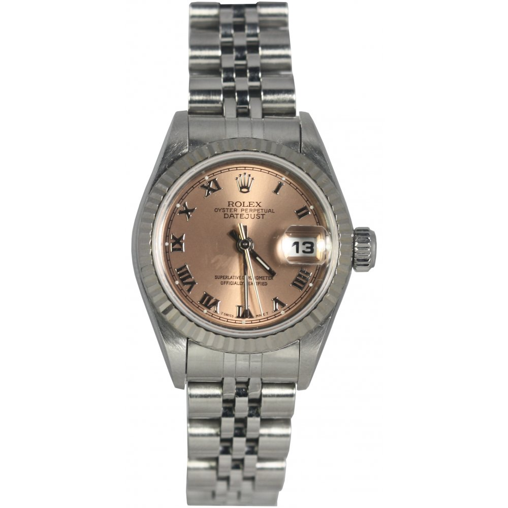 pre owned rolex ladies oyster perpetual datejust 69174. Black Bedroom Furniture Sets. Home Design Ideas