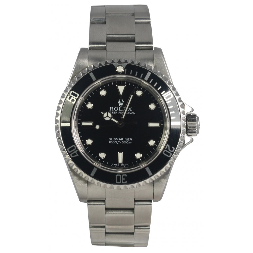 pre owned rolex mens oyster perpetual submariner
