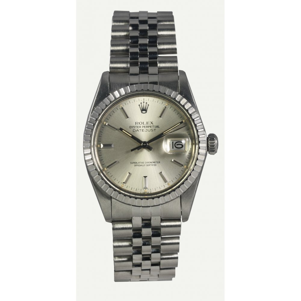 Pre owned rolex mens oyster perpetual datejust watch 16030 for Oyster watches