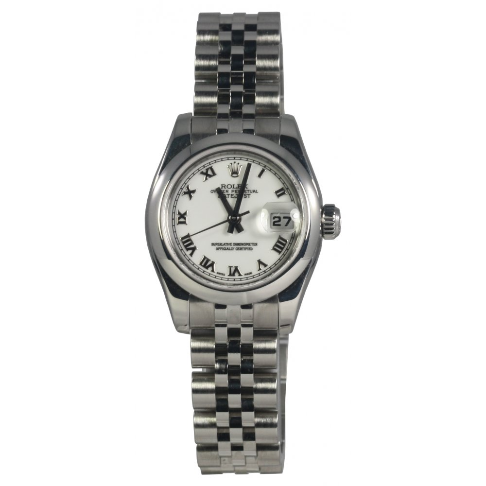 pre owned rolex ladies oyster perpetual datejust watch 179160. Black Bedroom Furniture Sets. Home Design Ideas