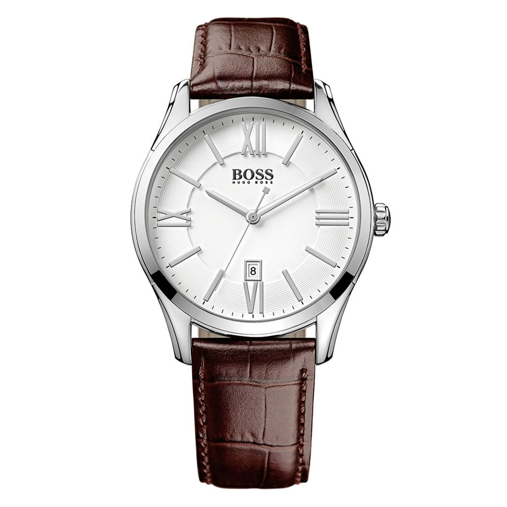Hugo boss mens brown leather strapped watch 1513021 for Hugo boss watches