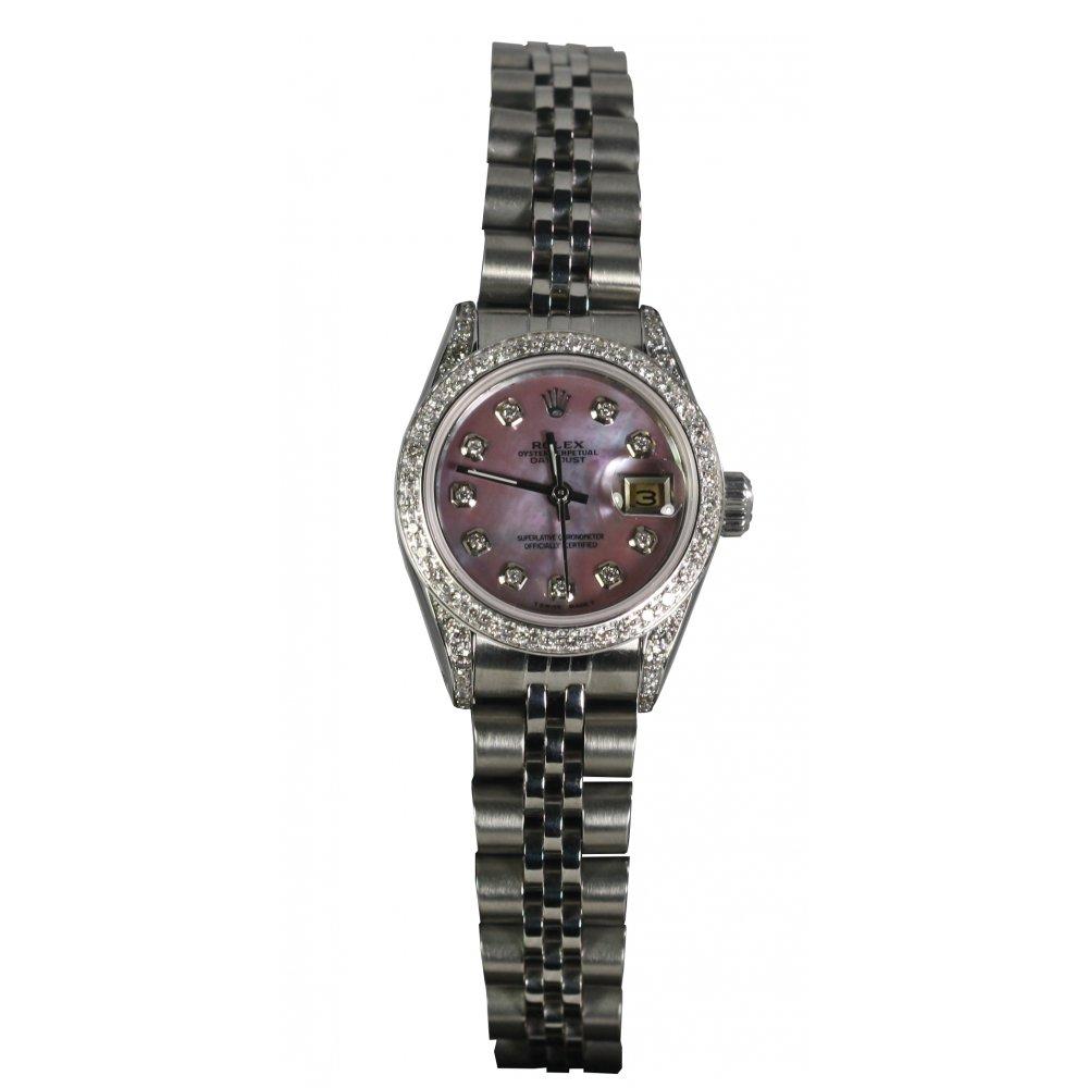 Rolex Pre-Owned Ladies Diamond Set Datejust