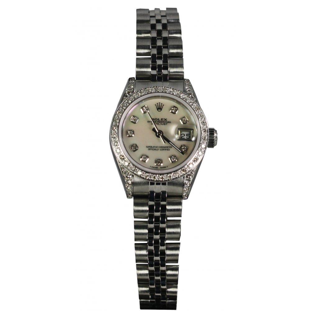 Rolex Pre-Owned Ladies Diamond Set S/Steel Datejust