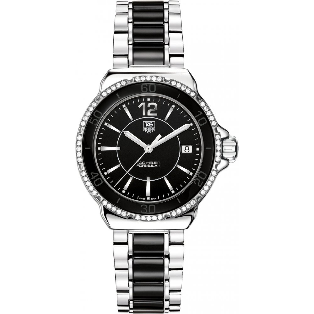 Tag heuer ladies formula 1 diamond watch wah1212 ba0859 for Tag heuer women