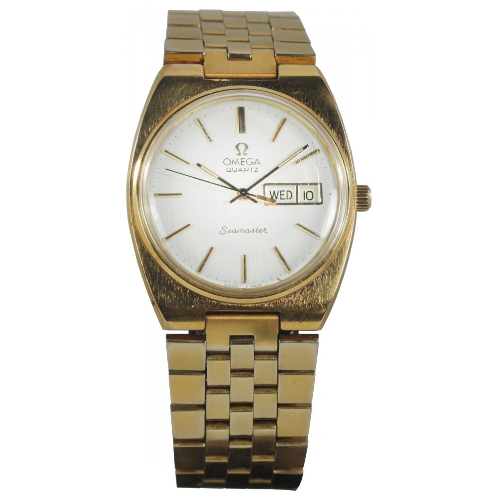 pre owned omega mens seamaster gold plated pre owned