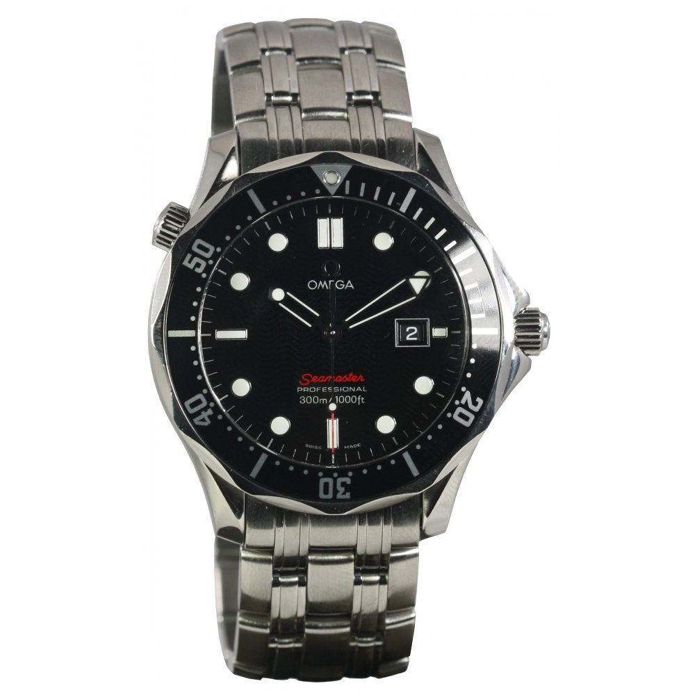 pre owned omega mens seamaster stainless steel pre