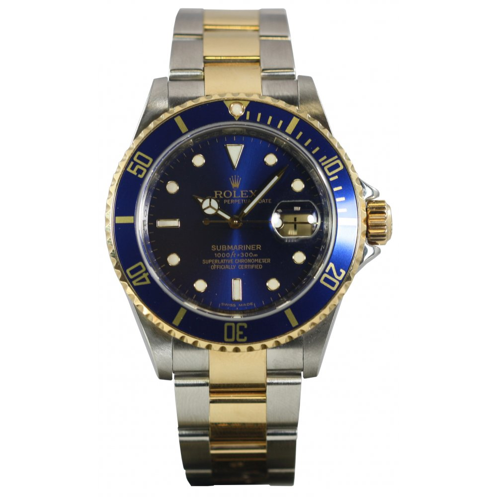 Pre-Owned Rolex Mens Blue Dial Submariner