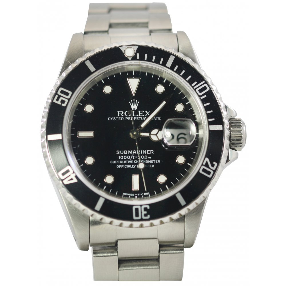 pre owned rolex mens stainless steel submariner pre